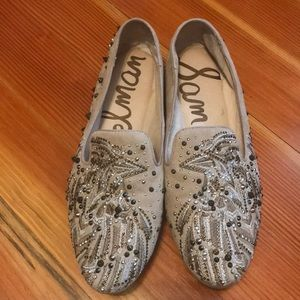 Sam Edelman suede studded loafers